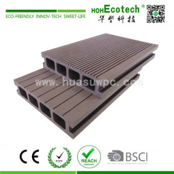 Outdoor durable wooden plastic decking floor