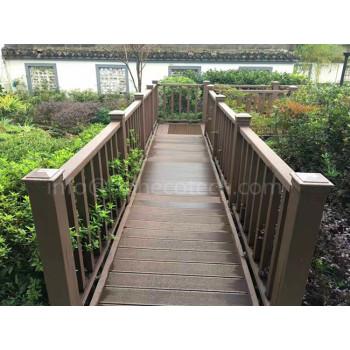 Wood plastic composite railing material