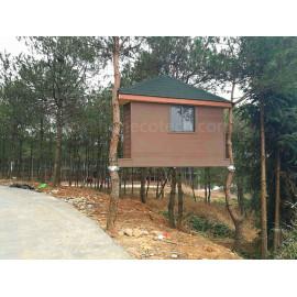 Nice wood plastic composite summer house