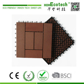 Backyard wood composite DIY deck tile