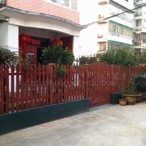 Home gardening wood-plastic composite fence