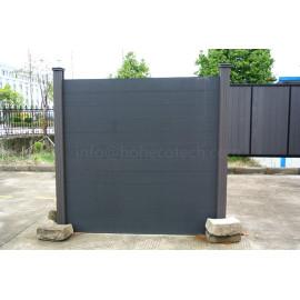 Waterproof durable landscaping wood plastic composite fencing material