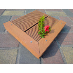 Outdoor wpc decking end cover