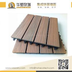 Mix color capped wood plastic composite deck tile