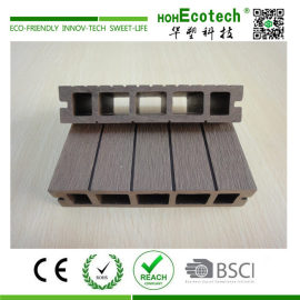 Outdoor barefoot wood plastic composite decking material