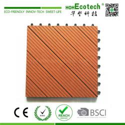 Landscaping wood plastic composite deck tile