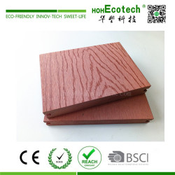 Embossed wood grain wpc composite deck flooring