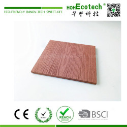 Wood plastic composite stair covering panel