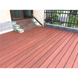 Ultra low maintenance wood plastic composite decking floor