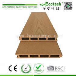 Low maintenance wooden composite deck floor