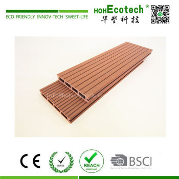 Low cost economic plastic wood composite deck boards