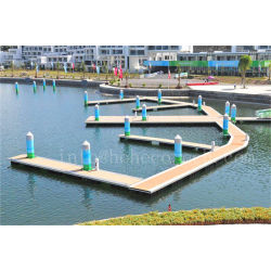 Wood plastic composite floating dock decking