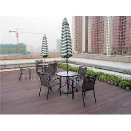 Weather resistant eco-friendly wpc terrace decking