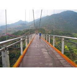 Safe eco-friendly wood plastic composite suspension bridge decking135H25-B
