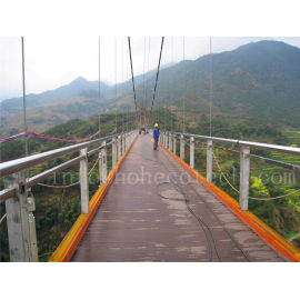 Safe eco-friendly wood plastic composite suspension bridge decking135H25-B