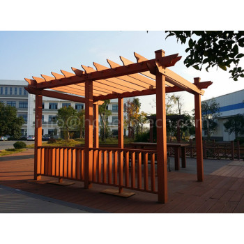 Fashion designed outdoor wood plastic composite pergola