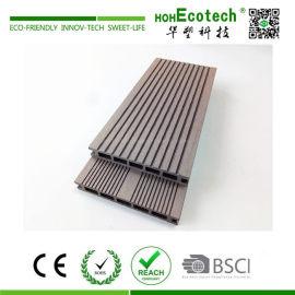 Low maintenance easy install wood plastic composite deck flooring