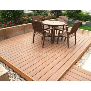 Outdoor co-extrusion wood plastic composite deck flooring
