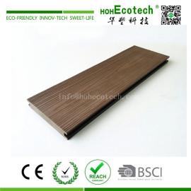 Outdoor wood plastic composite floor decking with deep wood grain