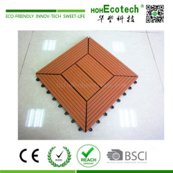 Anti Slip Sanding Surface Wood Plastic Composite Interlocking Deck Tiles