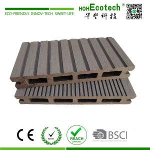 Wood plastic composite hollow deck flooring for platform