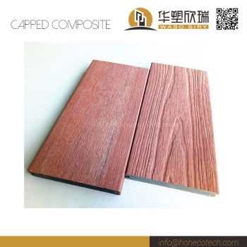 Natural wood looking nonslip co-extrusion wood plastic composite solid decking