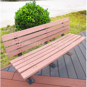 Outdoor landscaping decorative wooden bench