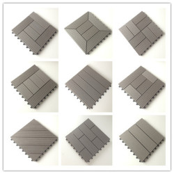 Anti-rot and anti-bending Burma teak outdoor wood decking tiles