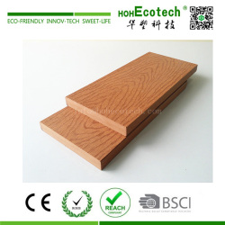 Anti-termite embossed wood grain wpc composite solid decking