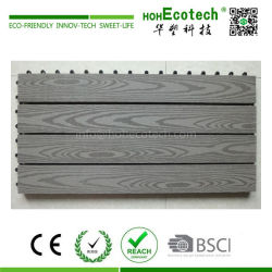 Big size interlocking wood plastic composite decking tiles