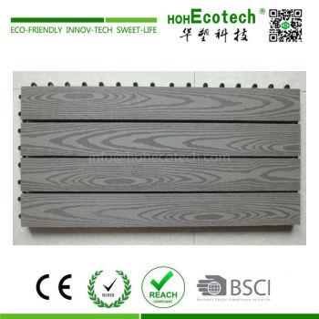 Big size interlocking wood plastic composite decking tiles