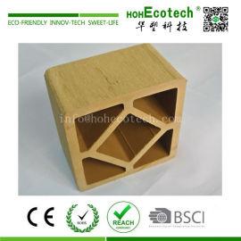 Anti cracking garden plastic wood composite railing post