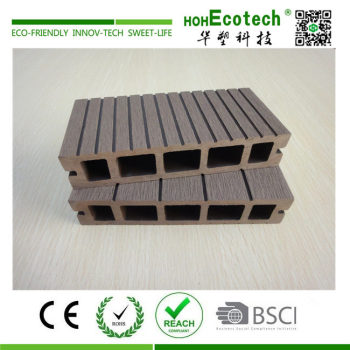 30 mm thickness wood plastic composite hollow decking