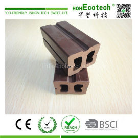 Outdoor anti cracking wpc composite hollow decking keel