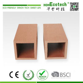 Wooden composite railing post