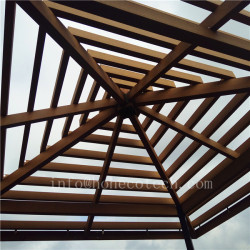 Eco-friendly fashion designed wood plastic composite pergola beam