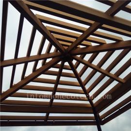 Eco-friendly fashion designed wood plastic composite pergola beam