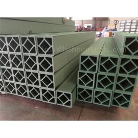 Green color wood plastic composite railing post
