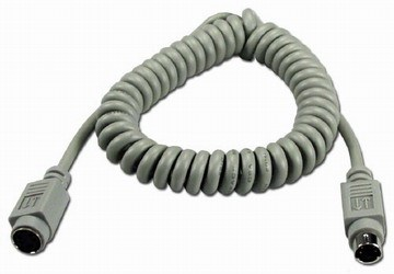 Câble spiralé ordinateur