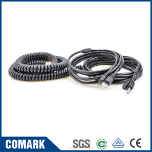 Telephone Spiral Cable RJ11 RJ12 RJ45 18AWG Flat Telephone Cable