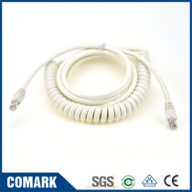 Custom patch cord RJ45 CAT6 spiral cable coiled extension network cord