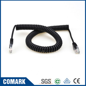 RJ45 connector telephone cable spiral cable