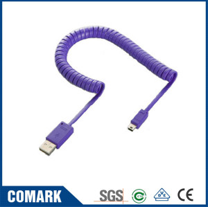 USB Micro coiled cable