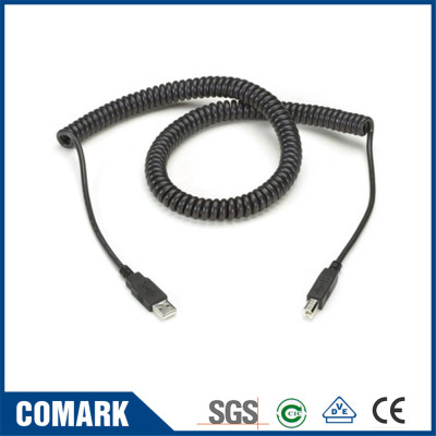 Printer USB spiral cable