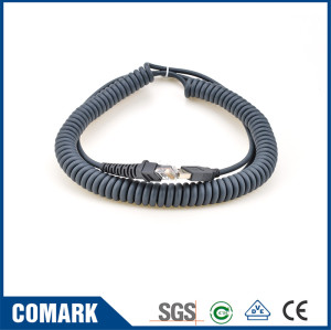 USB-RJ45 coiled cord