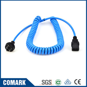 AU-C19 coiled power cable