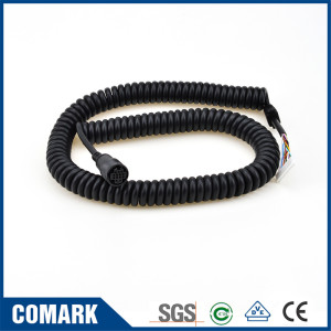 Aviation coiled cable