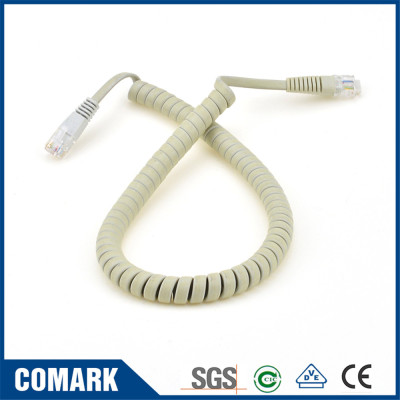 Flat spiral cord