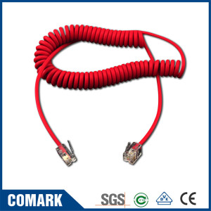 Telephone coiled cable