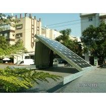 solar bus stop system